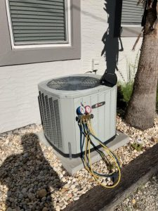 Air conditioner maintenance HVAC Service Refrigerant leak Tampa Trane air conditioner AC leakage test