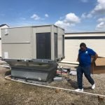 HVAC Service Rooftop ac unit installation AC installation Heating and Air Conditioning HVAC packaged units